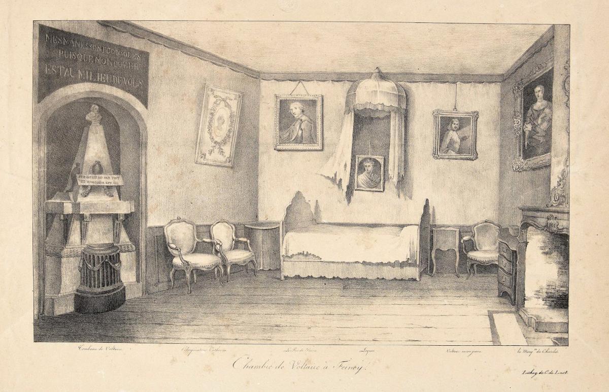 Chambre de Voltaire à Ferney