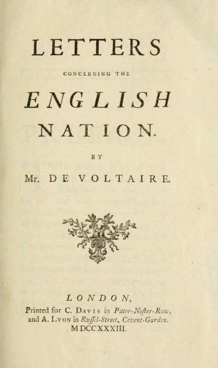Letters concerning the English Nation and smallpox