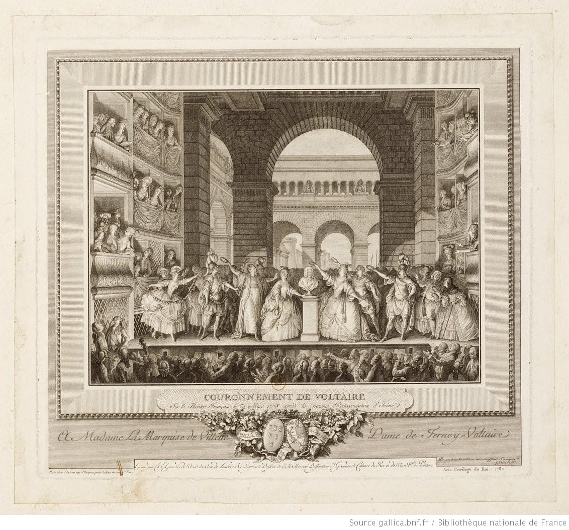 Voltaire couronné à la Comédie-Française