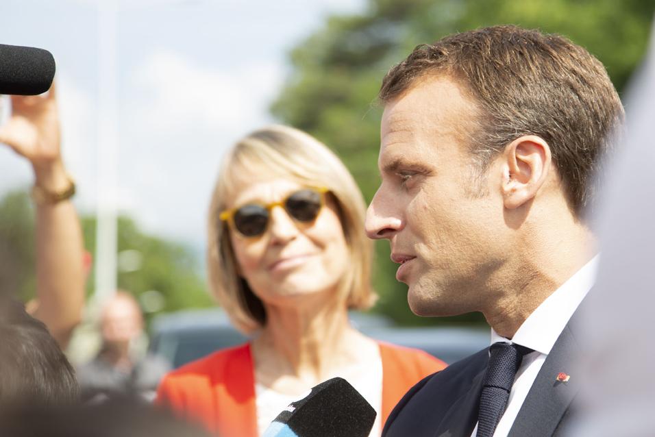 Françoise Nyssen (ministre de la Culture) et Emmanuel Macron