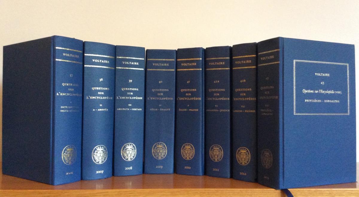 The complete set of Questions sur l'Encyclopédie