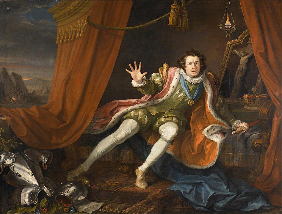 David Garrick as Richard III by William Hogarth