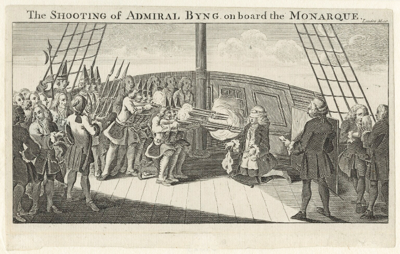 The shooting of Admiral Byng