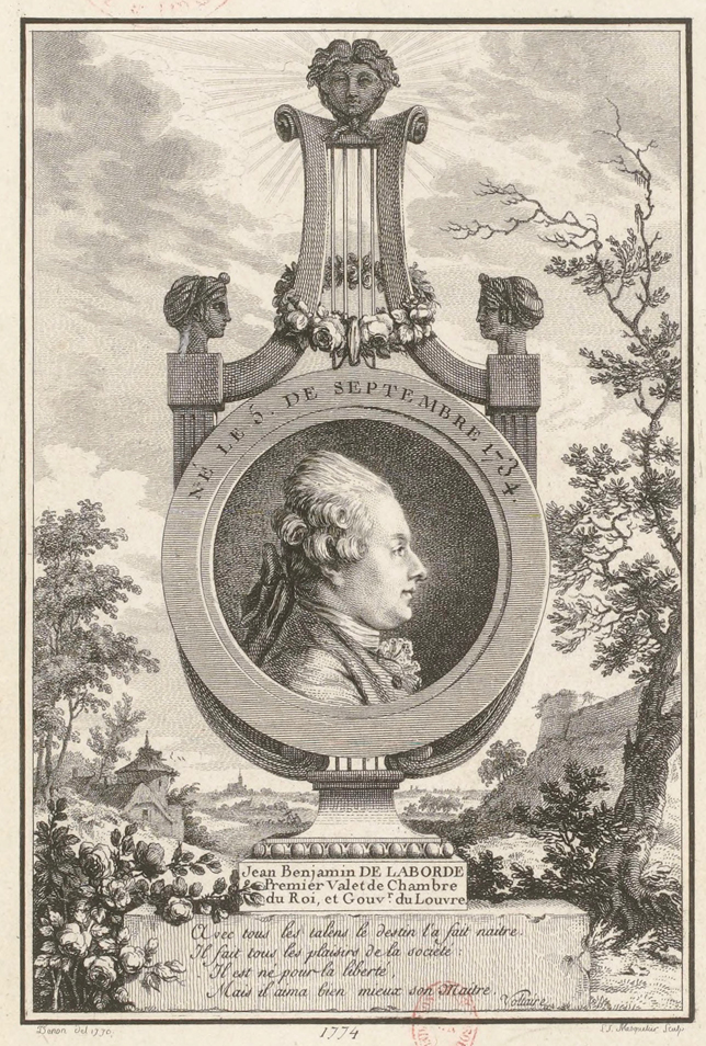 Frontispiece of the Choix de Chansons