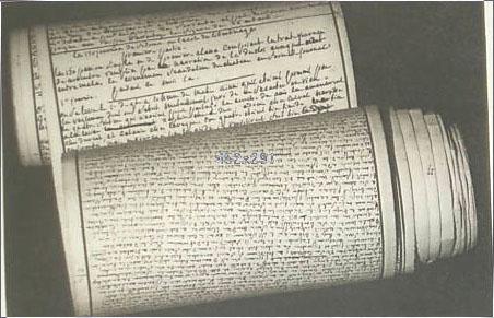Manuscript of Les Cent vingt journées de Sodome