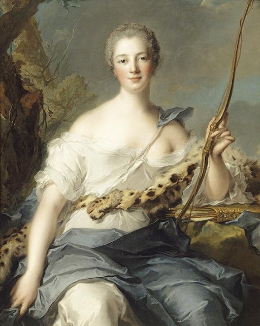 Madame de Pompadour as Diana, by Jean-Luc Nattier