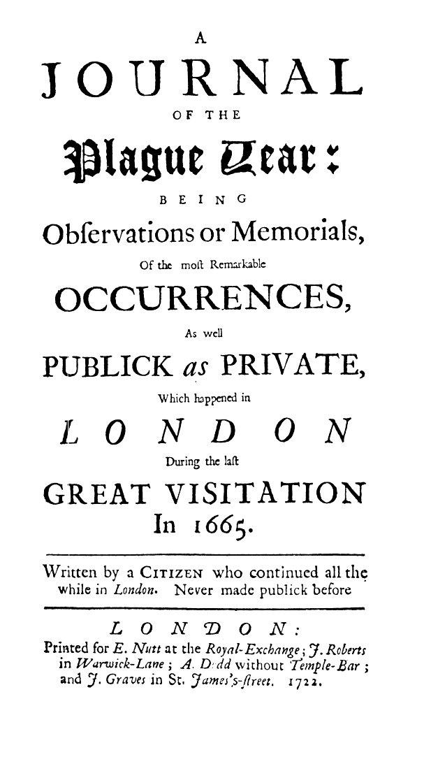 Daniel Defoe, A Journal of the plague year
