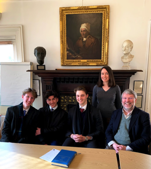 St Albans pupils at the Voltaire Foundation