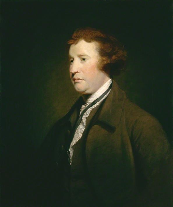 Edmund Burke, c.1767, studio of Joshua Reynolds.