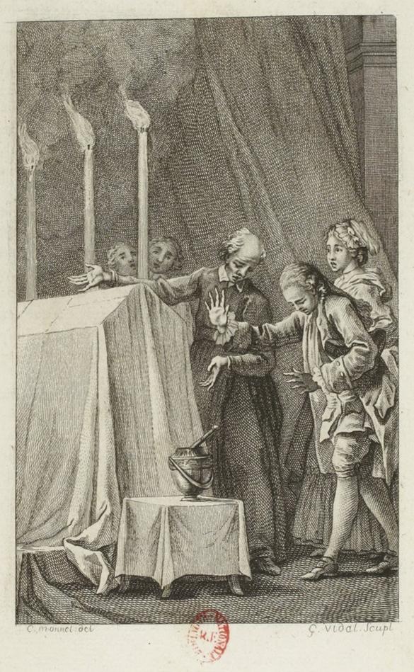 Engraving by Monnet and Vidal of L'Ingénu