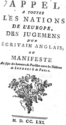 Title page of the first edition of the Appel.