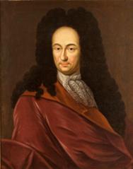 G. W. Leibniz, copy of a portrait by an unknown artist, originally produced for Johann Bernoulli 1711 (Gottfried Wilhelm Leibniz Bibliothek)