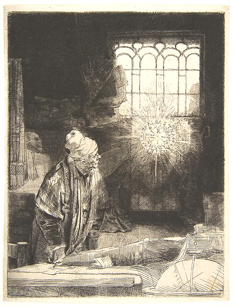 A Scholar in His Study ('Faust') Artist: Rembrandt