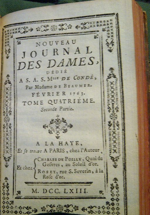 Pages du Journal des dames, février 1763