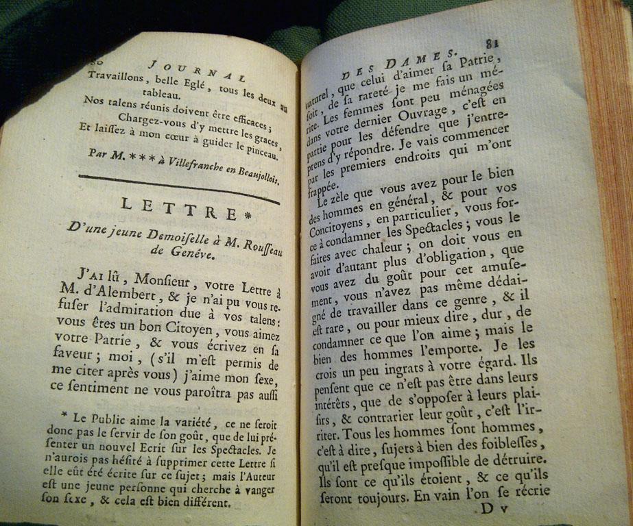 Pages du Journal des dames, février 1759