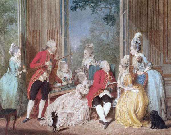The salon of the Duke of Orleans