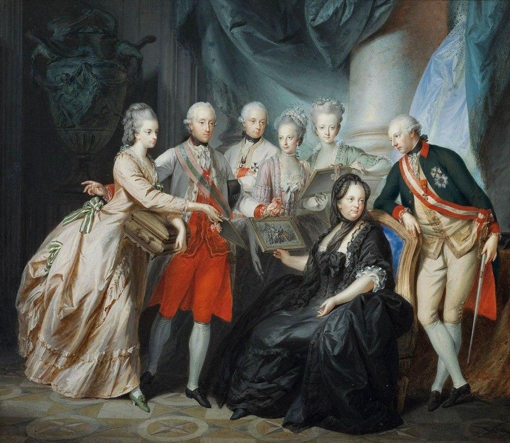 Kaiserin Maria Theresia im Kreise ihrer Kinder, by Heinrich Füger, 1776.