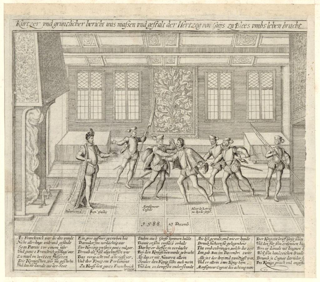 Hogenberg / Franois / 0410. L'assassinat du duc de Guise / [est