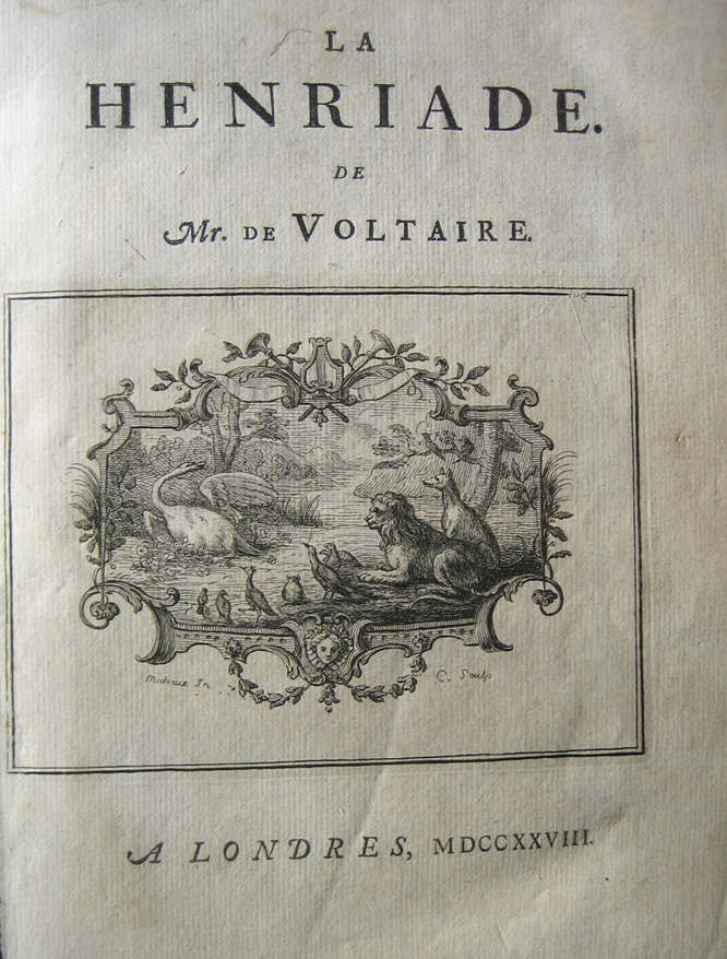 Henriade title page.