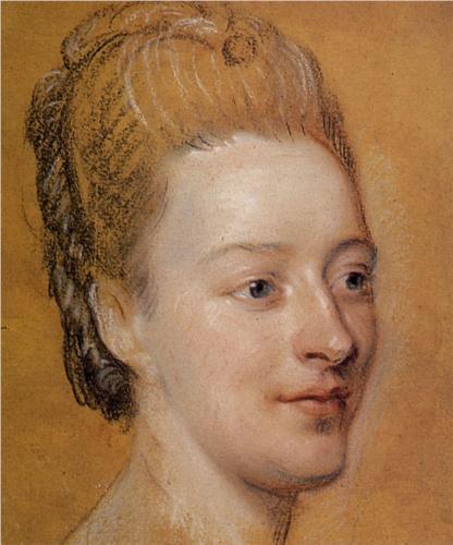 Portrait of Isabelle de Charrière by Maurice Quentin de la Tour, 1766 (WikiArt)