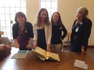 Correspondences scholars at the Weston Library, June 2015.
