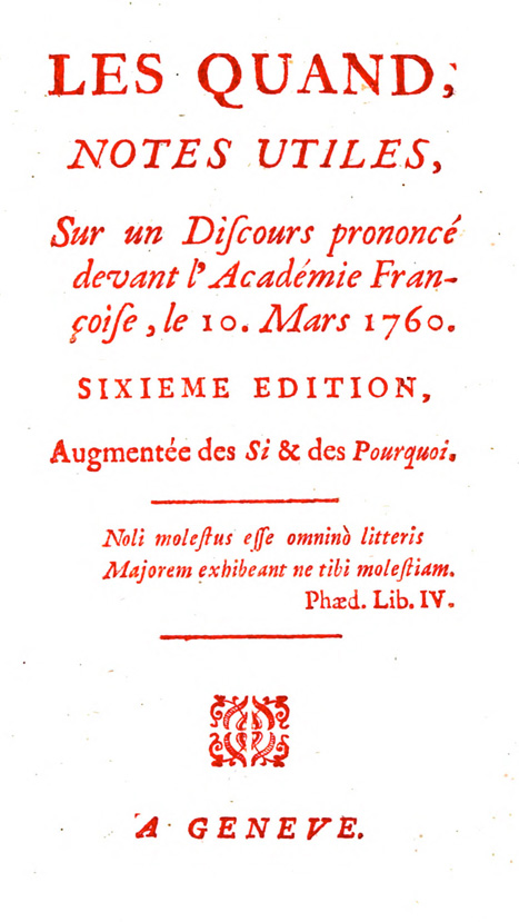 Title page of Les Quand