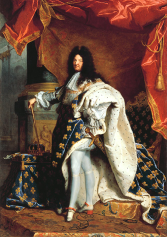 Portrait of Louis XIV by Hyacinthe Rigaud.