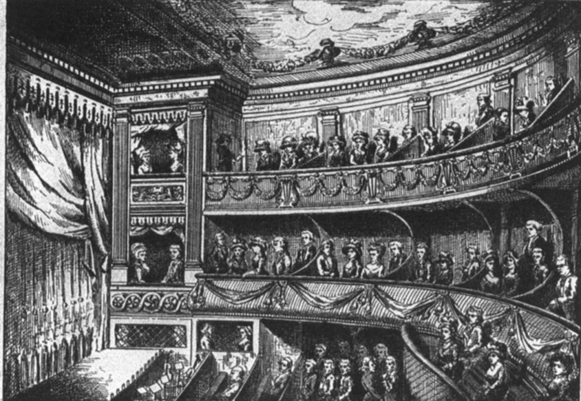 An audience in the theater at Reims.