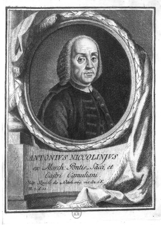 L'abbé marquis Antonio Niccolini, gravure de Domenico Campiglia. © Bibliothèque nationale de France.