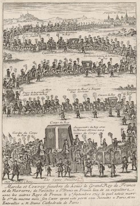 Marche et Convoy funèbre de Louis le Grand, Roy de France (BnF).