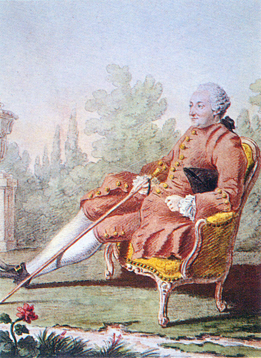 Le baron d'Holbach, par Louis Carmontelle