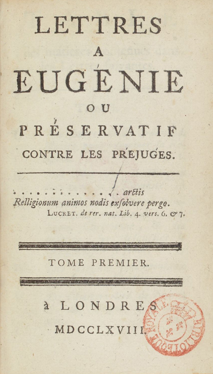 Lettres a Eugenie