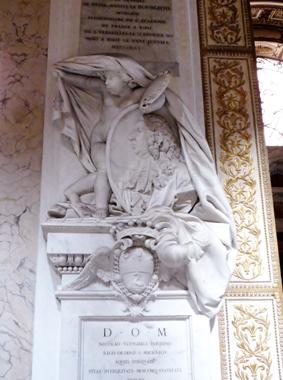 Nicolas Vleughels funerary stele, San Luigi dei Francesi,  Rome.