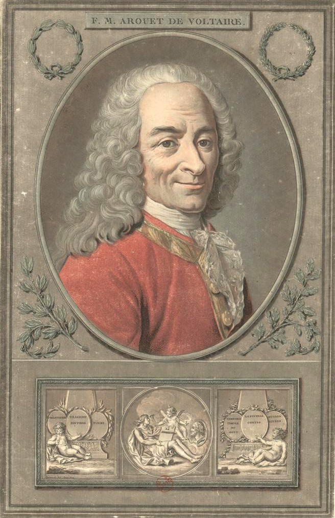 Voltaire painted by Garneray, engraved by Alix.
