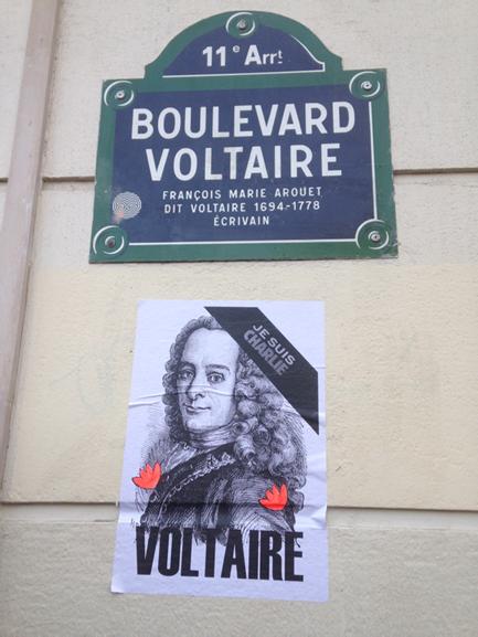 Voltaire je suis Charlie
