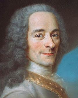 Detail from a portrait of Voltaire, after Maurice Quentin de La Tour c.1736 (Château de Ferney)